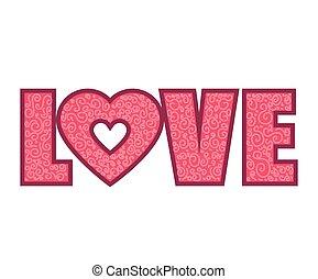 pink love word