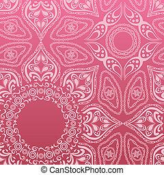 Pink mandala pattern