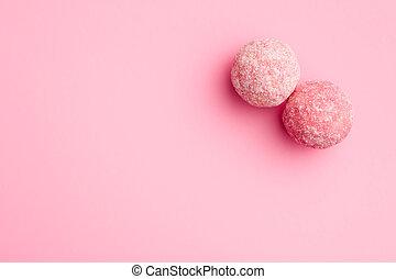 pink marzipan balls