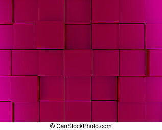 Pink metallic cubes background