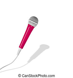 Pink microphone