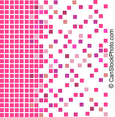 Pink mosaic background - Simple vector mosaic background in...