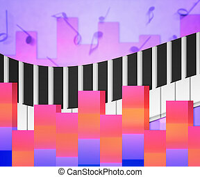 Pink Music Notes Background Texture
