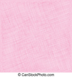 Pink Natural Cotton Fabric. Textile Background. Vector