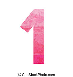 Pink number one for design and decoration.