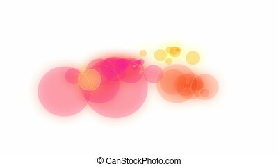 Abstract Paint Animation - Pink, orange and yellow circles...