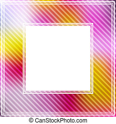 pink orange border - Abstract border with pink and...
