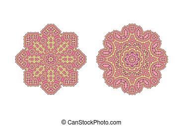 Pink ornate pattern