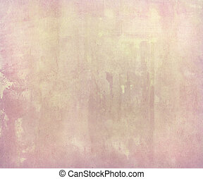 Pink pale watercolor wash on handmade paper Background