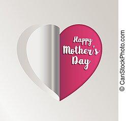 Pink paper heart folding