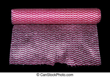 Pink Paper Roll on Black Background