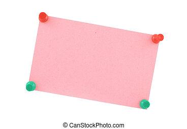 pink paper sheet  pi