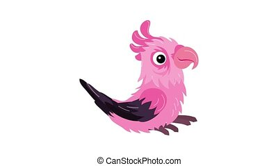 Pink parrot icon animation
