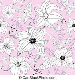 Pink pastel seamless floral pattern