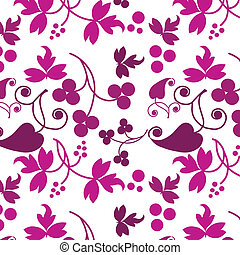 pink pattern of flowers on white background