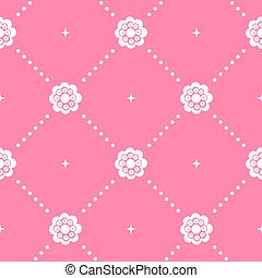 Pink pattern seamless in baroque style. Decorative vintage,...