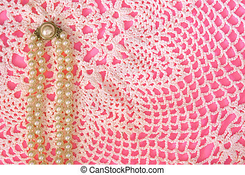 Pink, Pearls, Lace