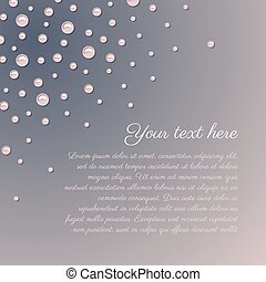 Pink pearls romantic background