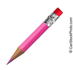 Pink pencil. Macro