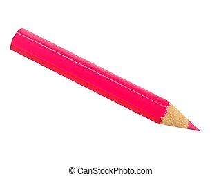 Pink pencil on white