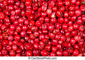 Pink peppercorn background - A background of pink...