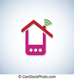 Pink phone house