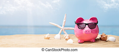 Piggy Bank With Black Sunglasses