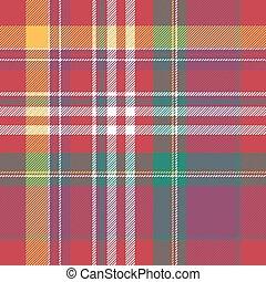 Pink plaid tartan seamless pattern. Vector illustration.