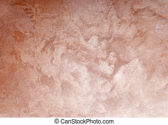 Pink plaster wall background patter - wall painted by pink...