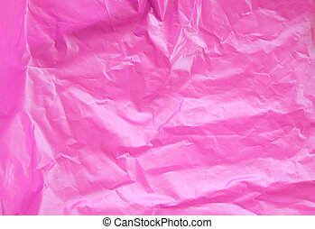 Pink Plastic Bag Texture Background