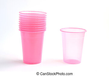 Pink plastic glasses