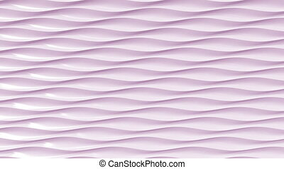 Pink plastic waves, loopable animation - Abstract pink...