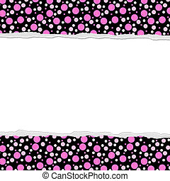 Pink Polka Dot background for your message or invitation...