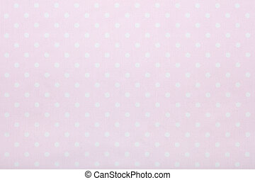 Pink polka dot fabric texture background