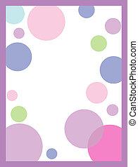 Pink Polka Dot Invitation  Background