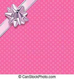 Pink Polka Dot Present Background