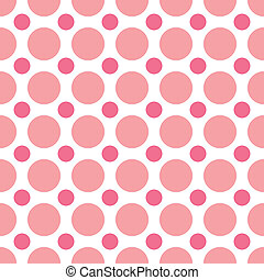 Pink Polka Dots - A seamless background pattern of...