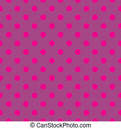 Pink polka dots vector background