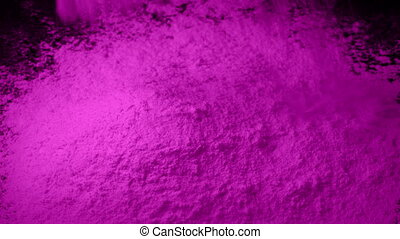 Pink Powder Is Poured Into Pile - Pink powder pours into...