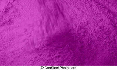 Pink Powder Pours Into Pile - Pink powder pours into pile...