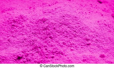 Pink Powder Rotating - Pile of pink powder turning slowly