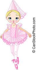 Pink Princess - Illustration of a cute little ballerina...