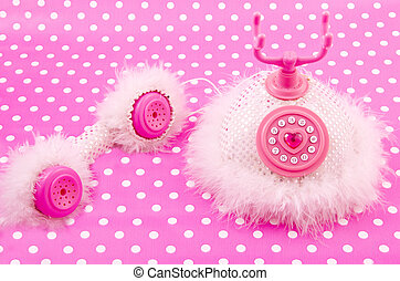 Pink princess royal phone