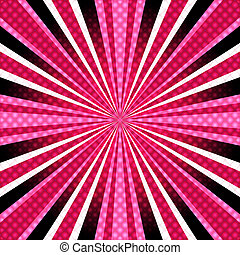Pink-purple background with rays