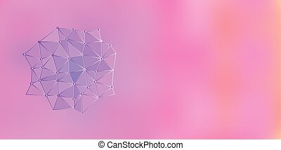 Pink Purple Orange Low Poly Vector Background