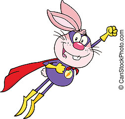 Pink Rabbit Superhero