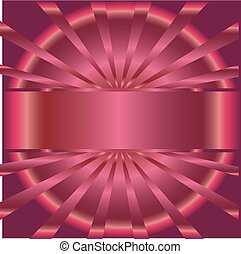 Pink rays background with place for