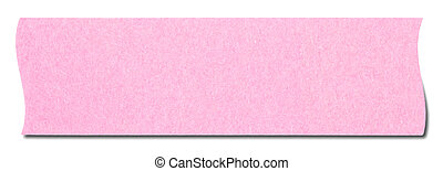 Pink rectangular sticky note