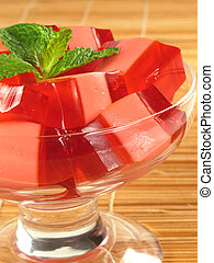 Pink & Red Gelatin - Red and pink layers of gelatin dessert...
