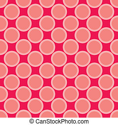 Pink red vector polka dots pattern